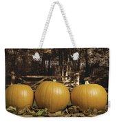 Autumn Pumpkins Weekender Tote Bag by Amanda Elwell