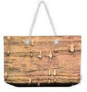 Autumn Rain On Wood Weekender Tote Bag