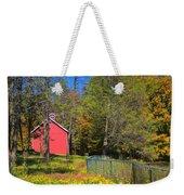 Autumn Red Barn Weekender Tote Bag by Joann Vitali