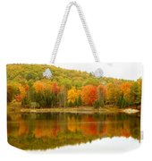 Autumn Reflection Panoramic View Weekender Tote Bag