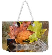 Autumn Reflection Weekender Tote Bag