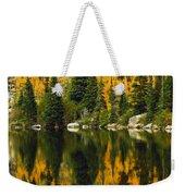 Autumn Reflections At Bear Lake Weekender Tote Bag