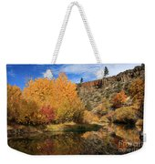 Autumn Reflections In The Susan River Canyon Weekender Tote Bag
