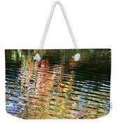 Autumn River Water Reflections  Weekender Tote Bag