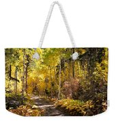Autumn Road - Tipton Canyon - Casper Mountain - Casper Wyoming Weekender Tote Bag