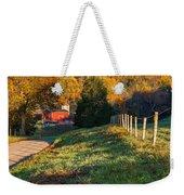 Autumn Road Morning Weekender Tote Bag