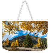 Autumn Scene Framed By Aspen Weekender Tote Bag by Cascade Colors