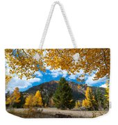 Autumn Scene Framed By Aspen Weekender Tote Bag
