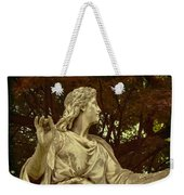 Red Autumn Sculpture Weekender Tote Bag
