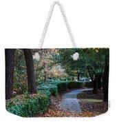 Autumn Side Walk Weekender Tote Bag