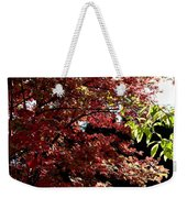 Autumn Snowball Bush Weekender Tote Bag
