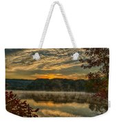 Autumn Sunrise At The Lake Weekender Tote Bag