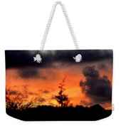 Autumn Sunrise From The Back Deck Weekender Tote Bag
