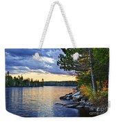 Autumn Sunset At Lake Weekender Tote Bag
