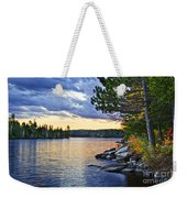 Autumn Sunset At Lake Weekender Tote Bag