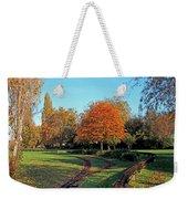 Autumn Tracks Weekender Tote Bag