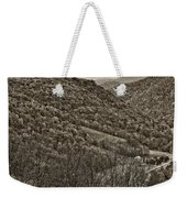 Autumn Valley Sepia Weekender Tote Bag