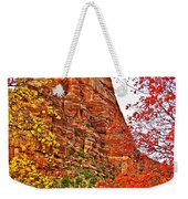 Autumn View Along Zion Canyon Scenic Drive In Zion National Park-utah Weekender Tote Bag