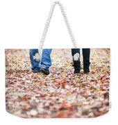 Autumn Walk In The Woods Weekender Tote Bag