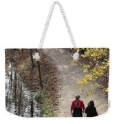 Autumn Walk On The C And O Canal Towpath Weekender Tote Bag