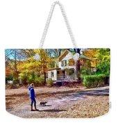 Autumn - Walking The Dog Weekender Tote Bag