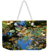 Autumn Water Lily Reflections  Weekender Tote Bag