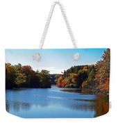 Autumn Waterway Weekender Tote Bag
