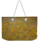 Autumn Wildflowers W Quote Weekender Tote Bag