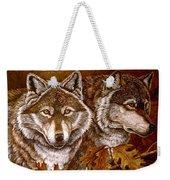 Autumn Wolves Weekender Tote Bag