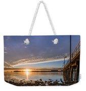 Autumnal Sunset At Del Norte Pier Weekender Tote Bag