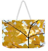 Autumn's Golden Leaves Weekender Tote Bag by Jennie Marie Schell