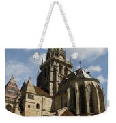 Autun Cathedral View Burgundy Weekender Tote Bag