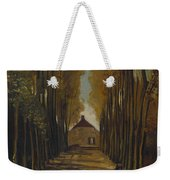 Avenue Of Poplars In Autumn Weekender Tote Bag