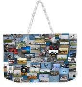 Aviation Collage Weekender Tote Bag
