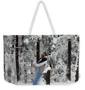 Awestruck By The Beauty Of Snow Weekender Tote Bag