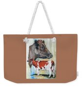 Ayrshire Cattle Weekender Tote Bag