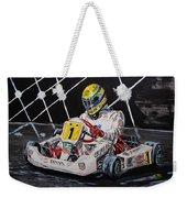 Ayrton Senna Karting Weekender Tote Bag