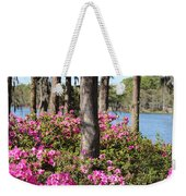 Azalea At The Lake Weekender Tote Bag