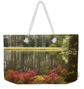 Azaleas And Reflection Pond Weekender Tote Bag