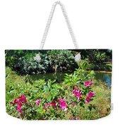 Azaleas By The Pond Weekender Tote Bag