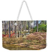 Azaleas By The Pond's Edge Weekender Tote Bag