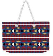 Aztec Blue Pattern Weekender Tote Bag