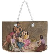 Aztec Women Making Maize Bread, Mexico Weekender Tote Bag
