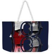 B For Bosox - Boston Red Sox Weekender Tote Bag by Joann Vitali