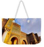 Bab Mansour In Meknes In Morocco Weekender Tote Bag
