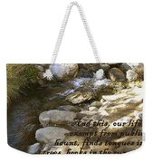 Babbling Brook William Shakespeare Quote Weekender Tote Bag
