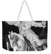 Babe Didrikson On Sidesaddle Weekender Tote Bag