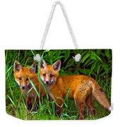 Babes In The Woods Impasto Weekender Tote Bag