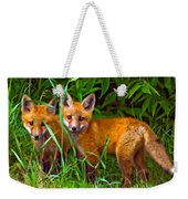 Babes In The Woods Oil Weekender Tote Bag