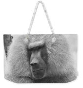 Baboon In Black And White Weekender Tote Bag